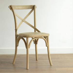 Parisian Side Chair With Solid Oak Wood With Distressed Finish