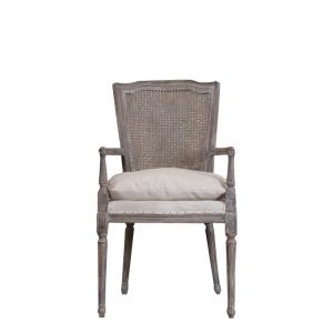 French oak linen with cushion good quality dining chair