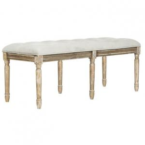 Rocha Tufted Traditional Bench, Gray