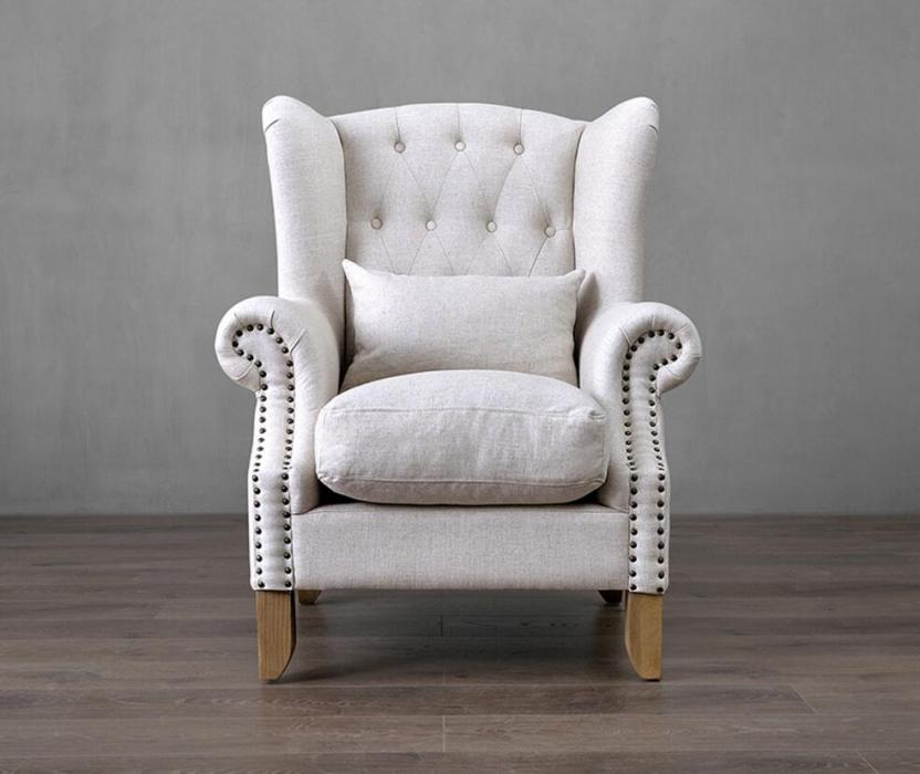 Living Room Fabric Accent Chair