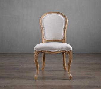 Oak frame with nature linen seat classic popular event wedding side chair