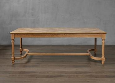 Solid oak wood rustic reclaimed wood  rectangular dining table